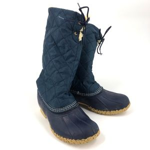LL Bean Boots sherpa lined tall quilted 6